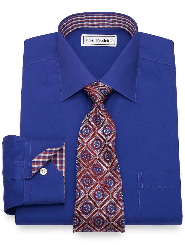 Non-Iron Cotton Pinpoint Oxford Dress Shirt