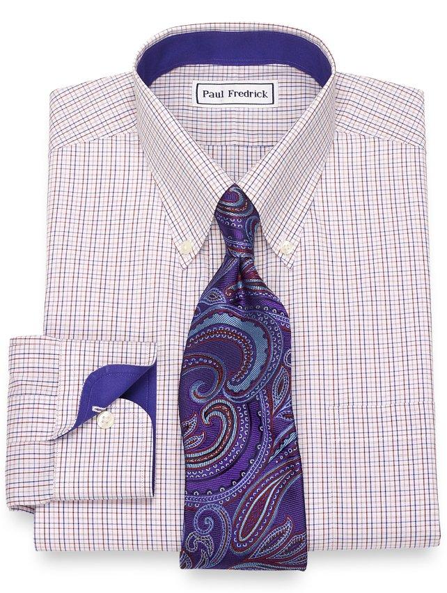 Non-Iron Cotton Tattersall Dress Shirt