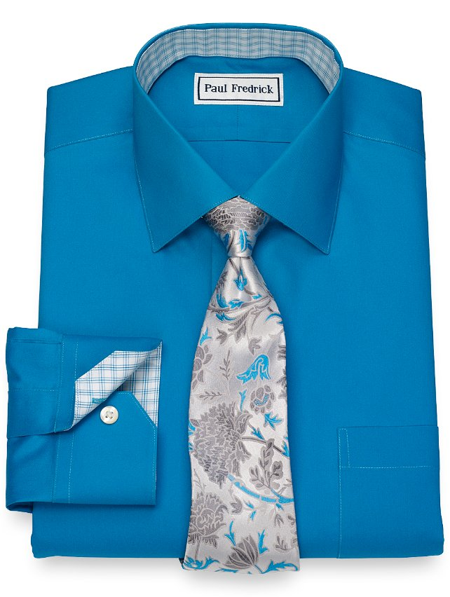 Non-Iron Cotton Solid Dress Shirt
