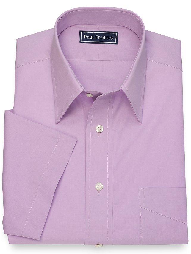 Cotton Solid Short Sleeve Dress Shirt