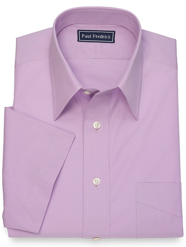 Slim Fit Cotton Solid Short Sleeve Dress Shirt