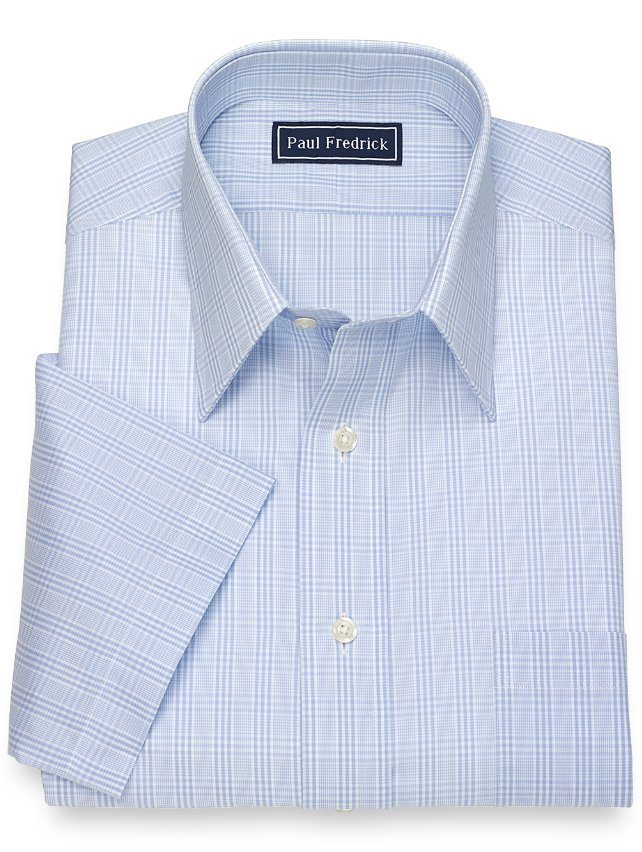 Cotton Glen Plaid Short Sleeve Dress Shirt