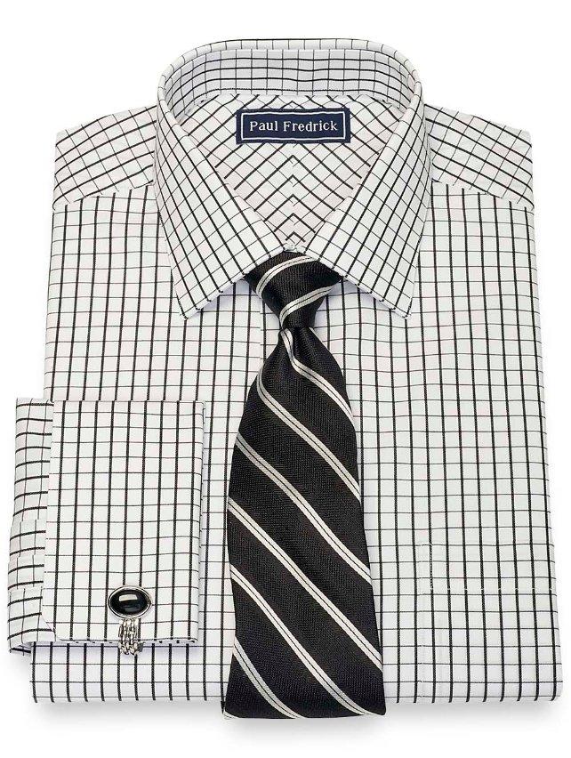 Cotton Grid Dress Shirt
