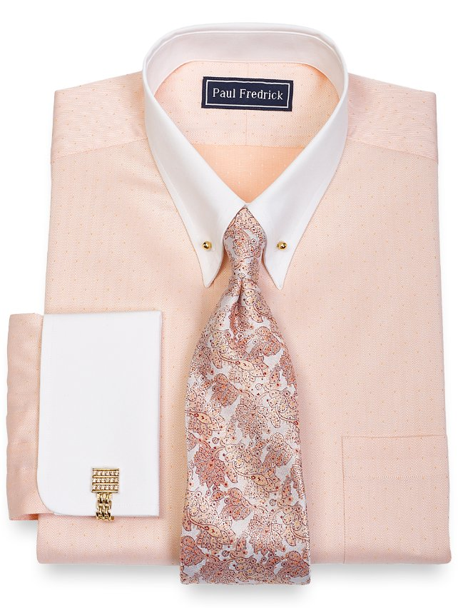 Cotton Herringbone Dress Shirt