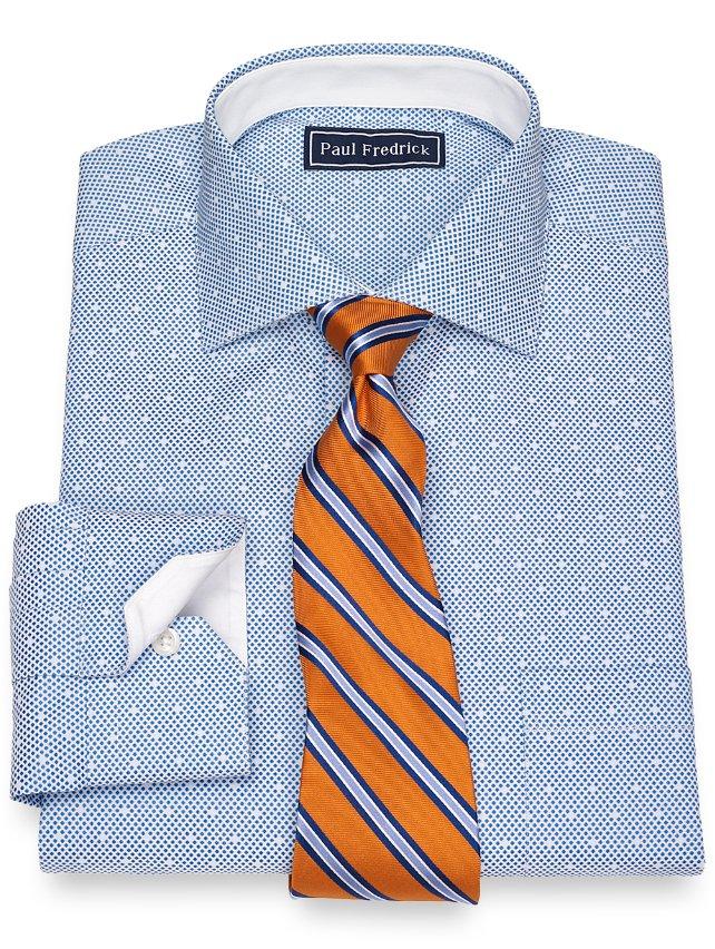 Cotton Dot Pattern Dress Shirt