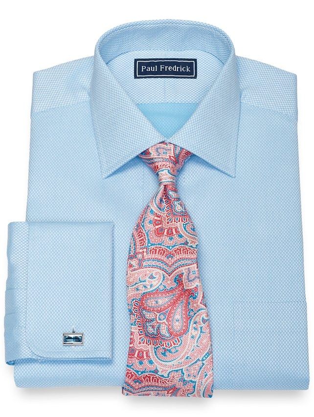 Cotton Diamond Pattern Dress Shirt