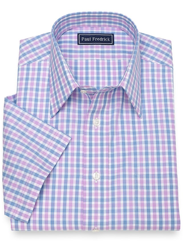 Cotton Gingham Short Sleeve
