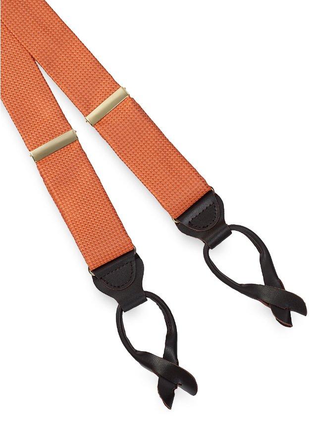 Textured Solid Silk Suspenders
