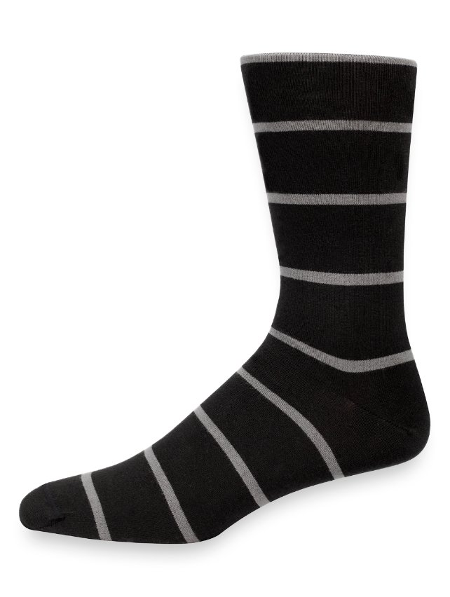 Pima Cotton Stripe Socks