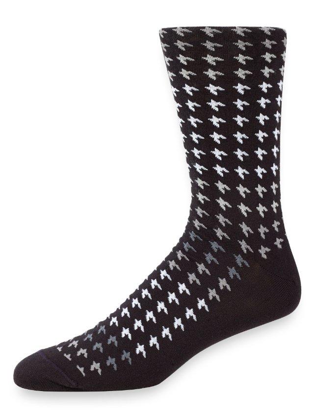 Peruvian Pima Cotton Houndstooth Socks