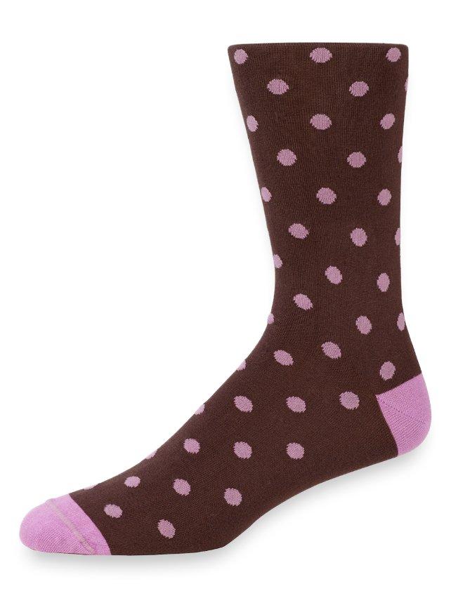 Peruvian Pima Cotton Dot Socks