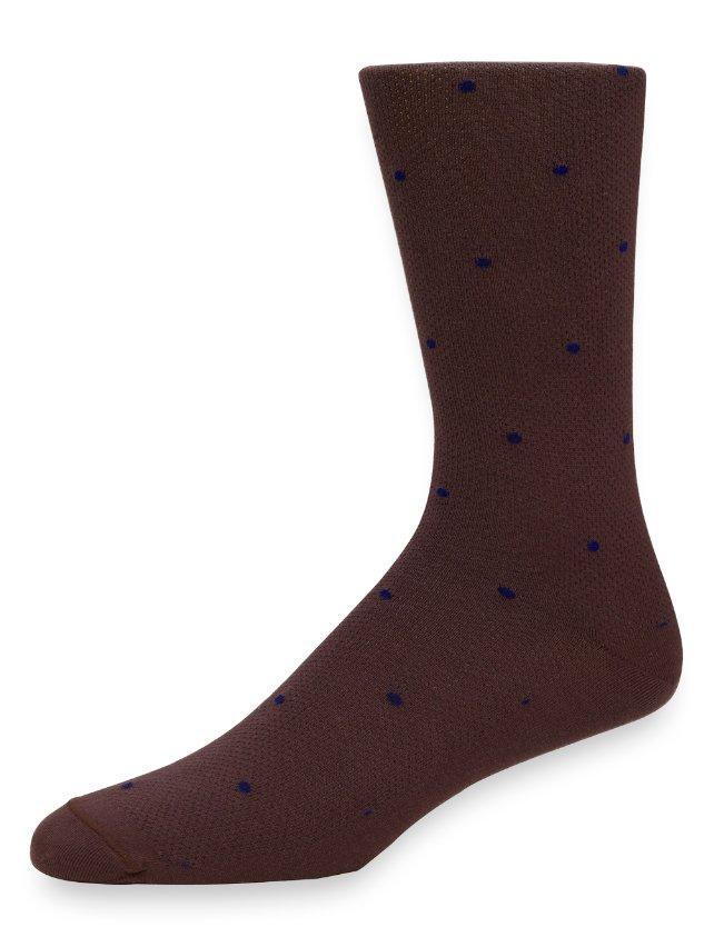 Peruvian Pima Cotton Mini Dots Socks