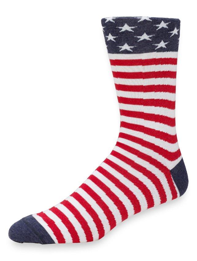 Peruvian Pima Cotton American Flag Socks