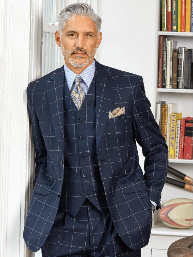 Wool Flannel Windowpane Sport Coat