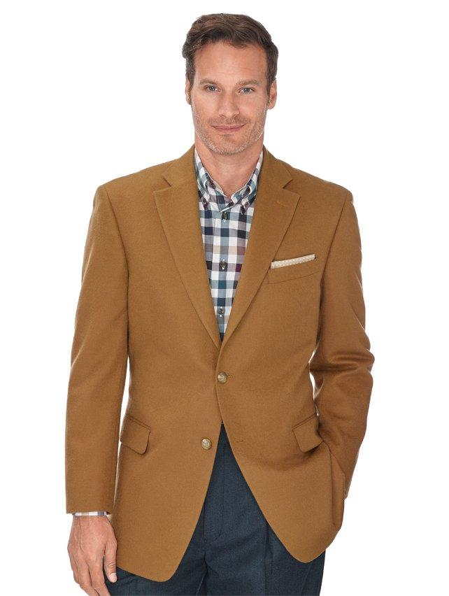 Camel Solid Wool & Cashmere Sport Coat