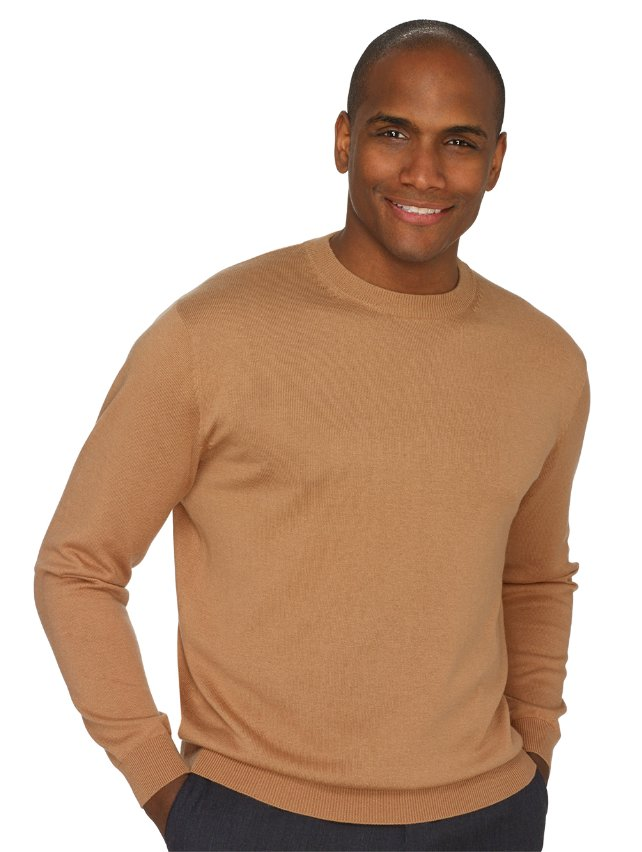 Silk, Cotton, & Cashmere Crew Neck Sweater