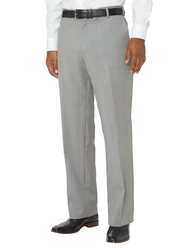 Slim Fit Wool Gabardine Flat Front Pants