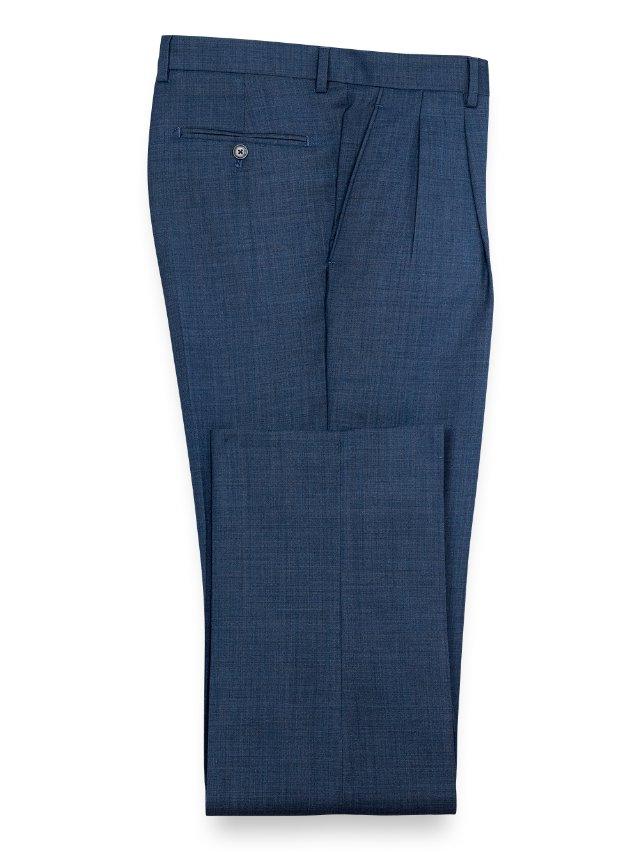 Super 100's Wool Sharkskin Pleated Pant