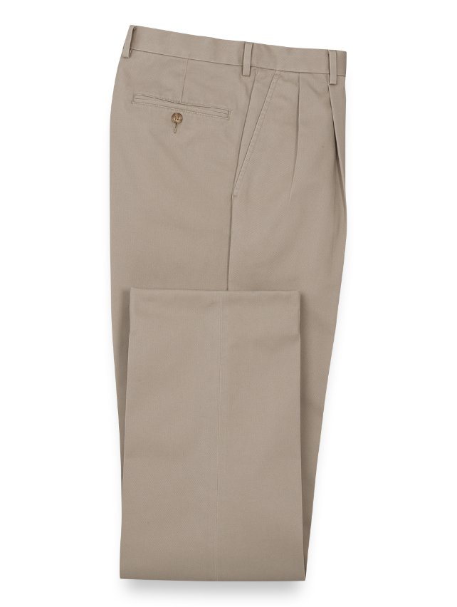 Non-Iron Cotton Chino Pleated Pants