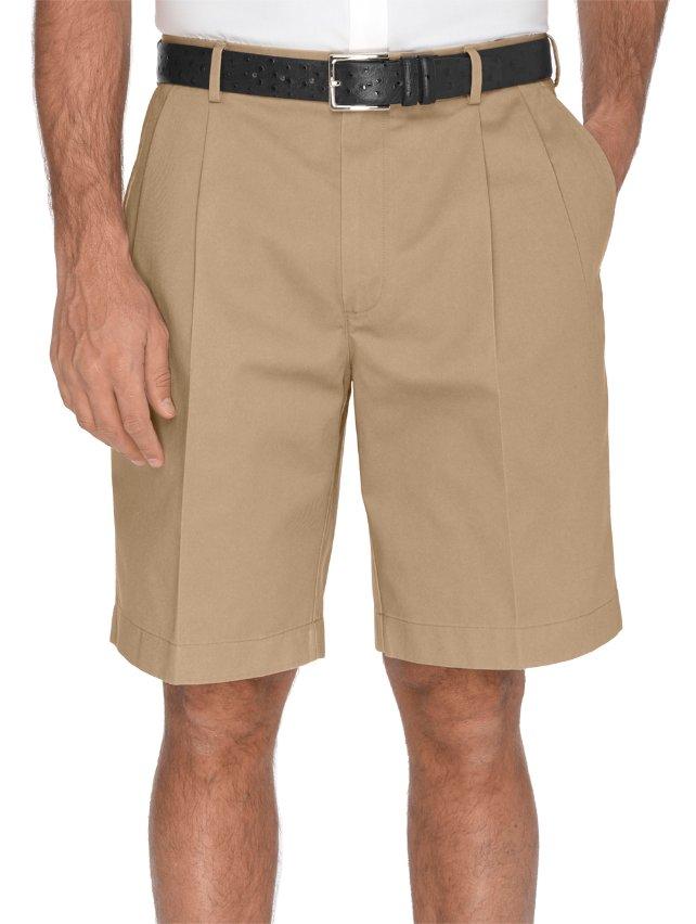 100% Cotton Non-Iron Chino Pleated Shorts