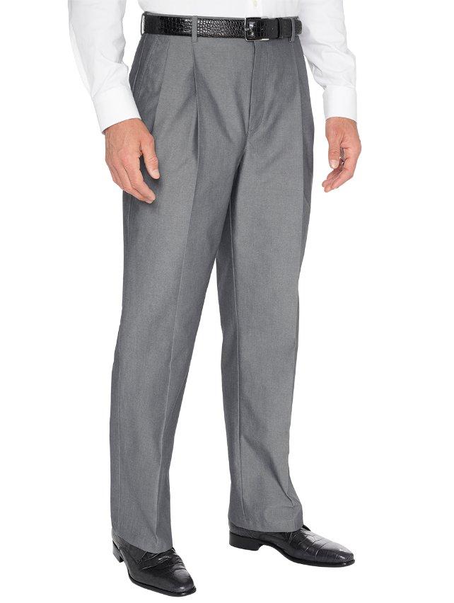 Non-Iron Supima Cotton Pleated Pants