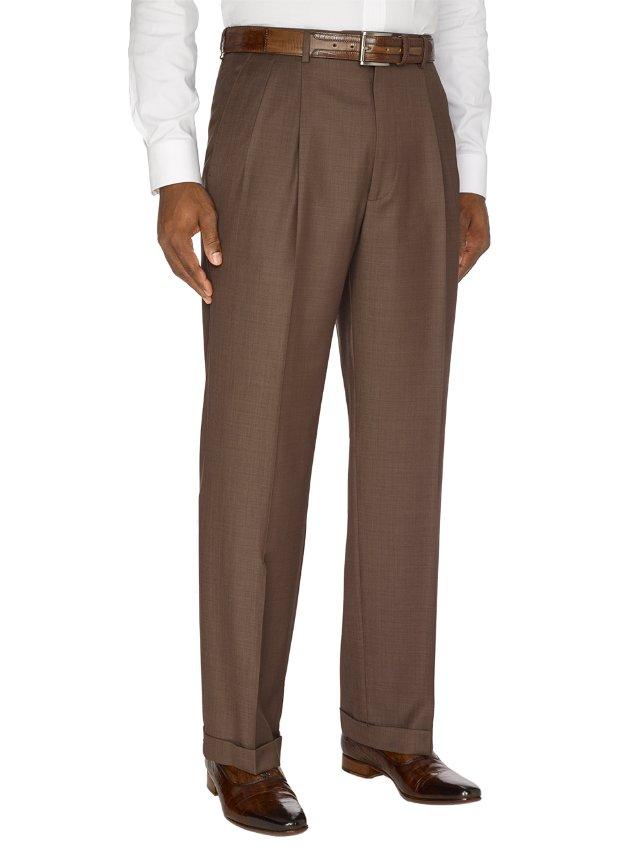 Italian Super 120's Pleated Pants