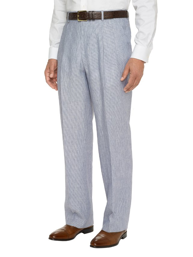 100% Linen Pleated Pants