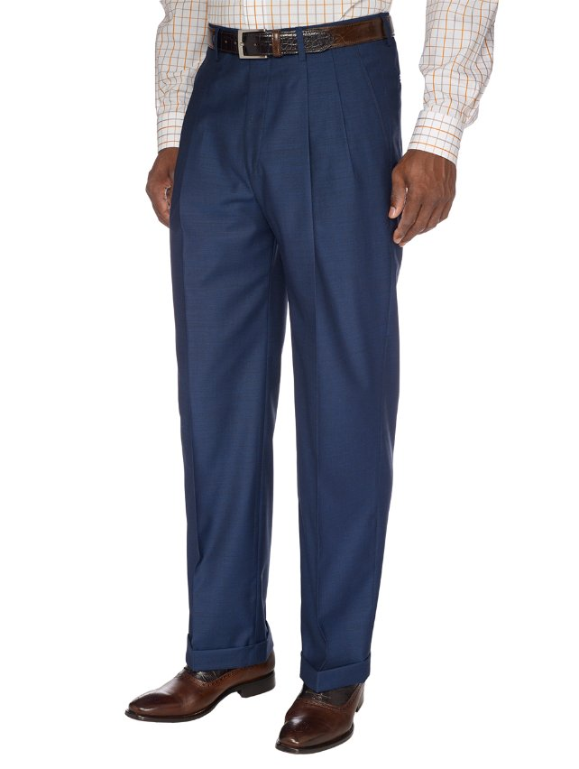 Indigo Pure Wool Pleated Suit Separate Pants