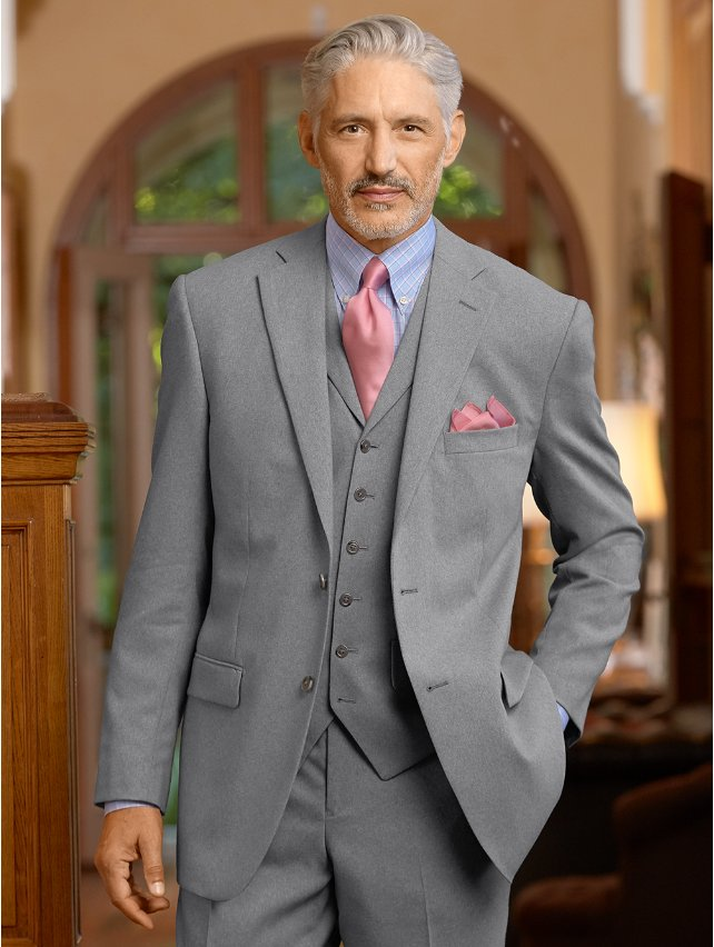 Wool Notch Lapel Suit Jacket