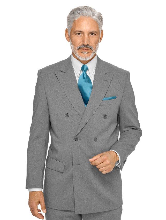 Wool Peak Lapel Suit Jacket