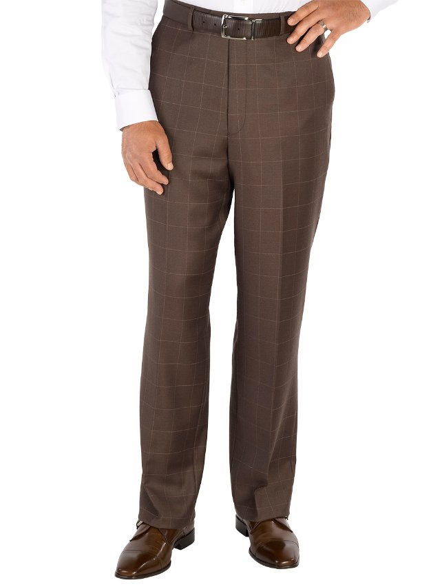 Wool Flat Front Suit Pants