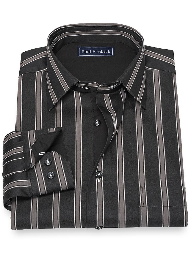 Cotton Stripe Sport Shirt