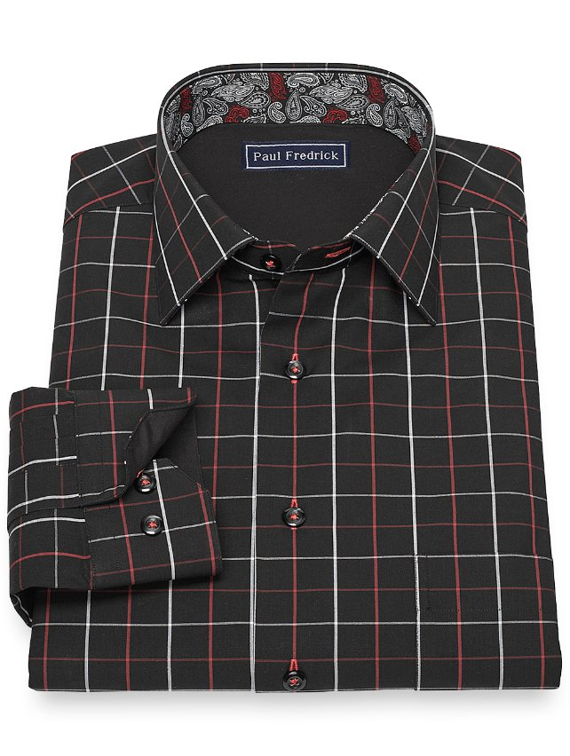 Cotton Windowpane Sport Shirt