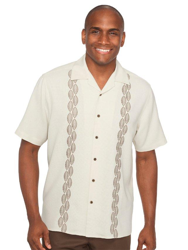 Silk Embroidered Camp Sport Shirt