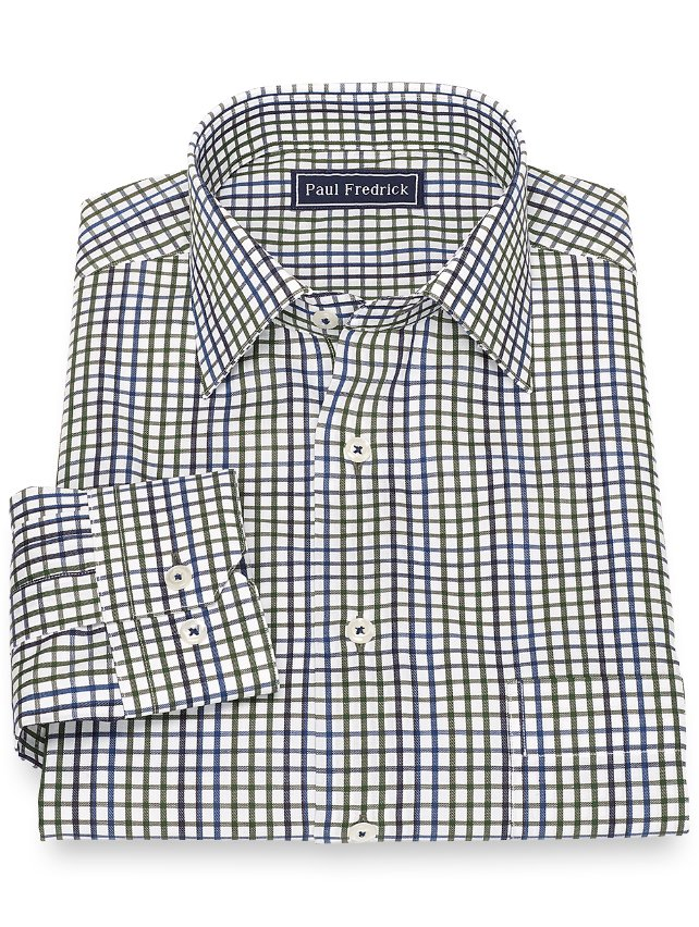 Cotton Tattersall Sport Shirt