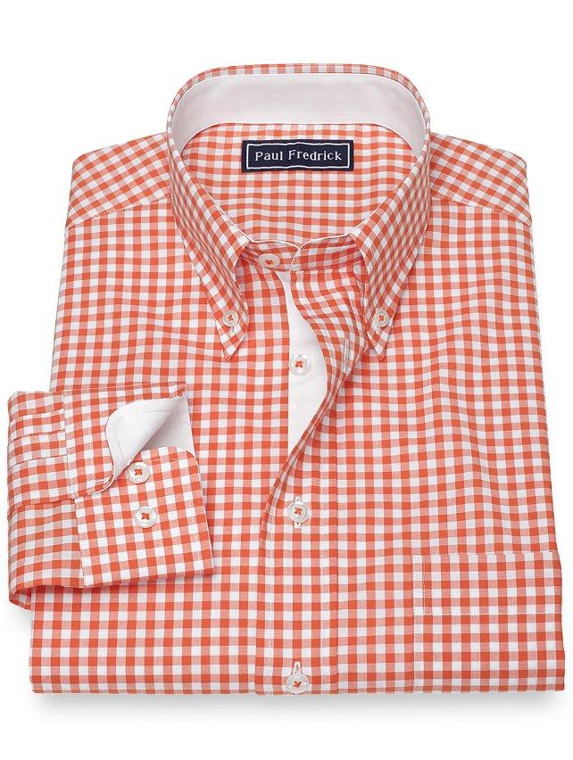 Cotton Gingham Sport Shirt