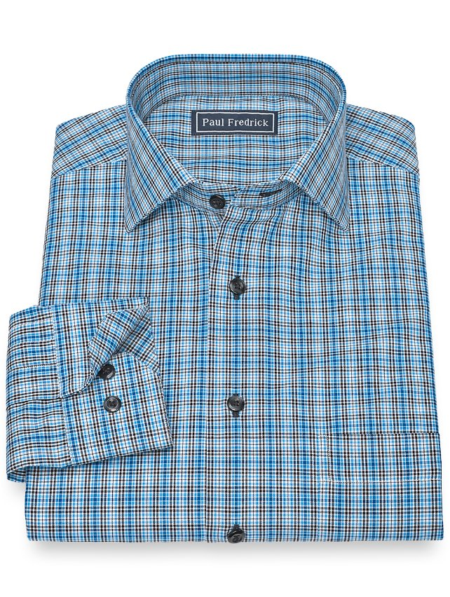 Cotton Plaid Sport Shirt