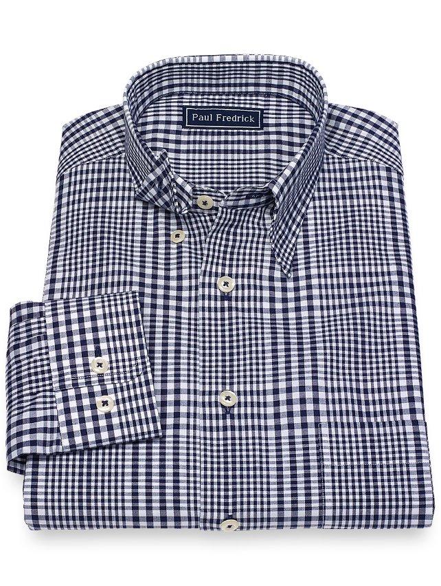 Cotton Plaid Sport Shirt