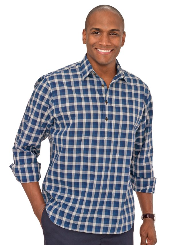 Cotton Windowpane Sport Shirt
