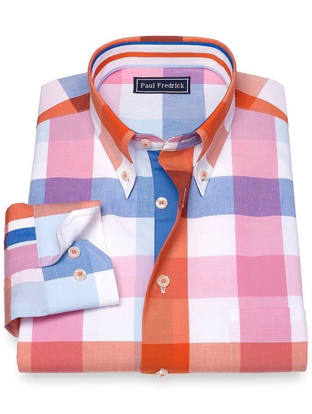 Slim Fit Cotton Check Sport Shirt