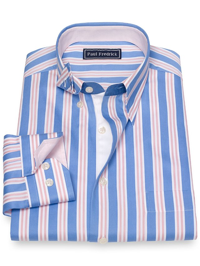 Cotton Stripe Sport Shirt