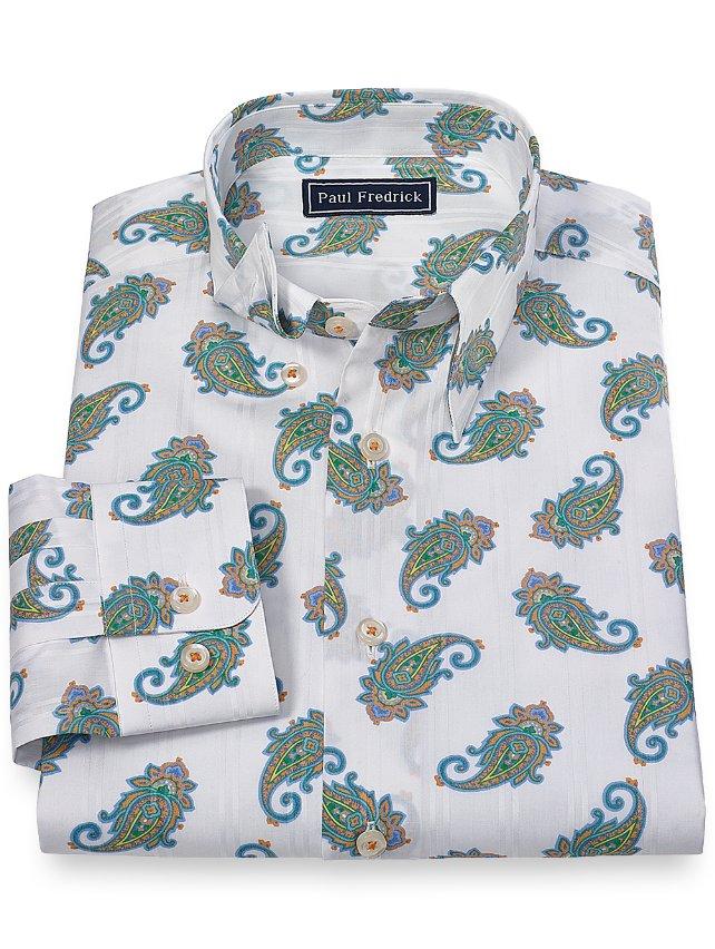 Cotton Paisley Sport Shirt