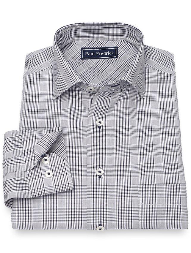 Slim Fit Cotton Plaid Sport Shirt