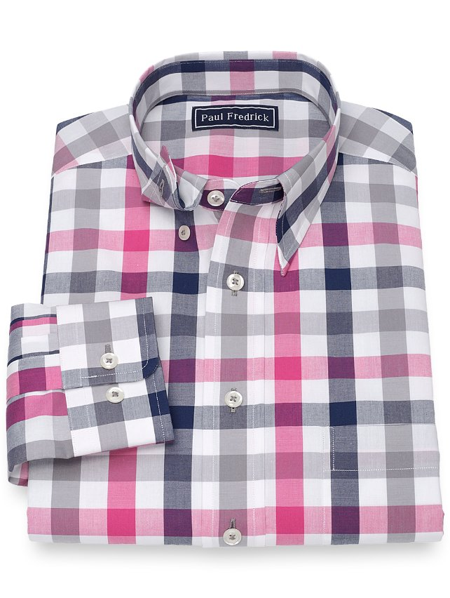 Cotton Check Sport Shirt