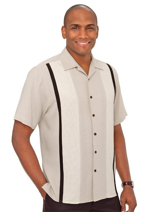 Silk Panel Sport Shirt