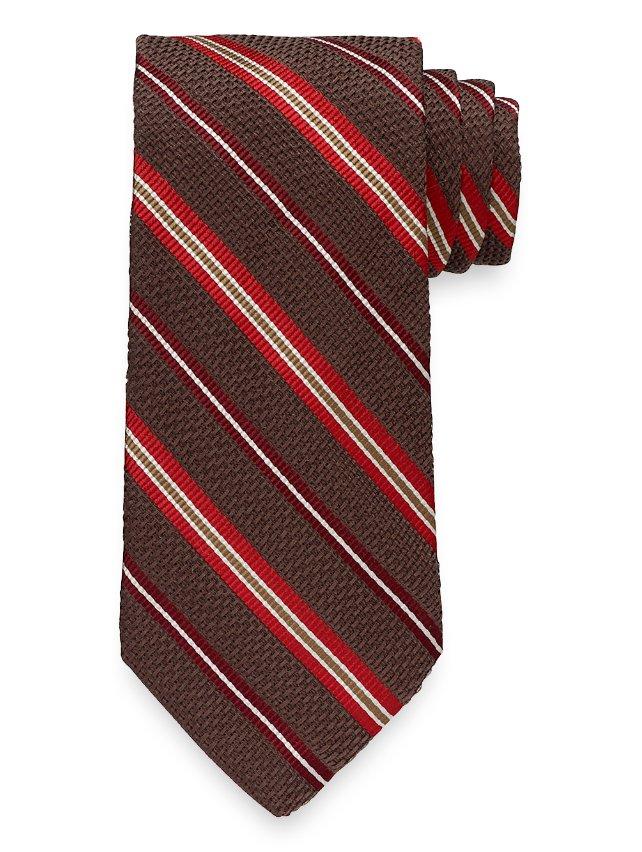 Striped Woven Italian Silk Blend Tie