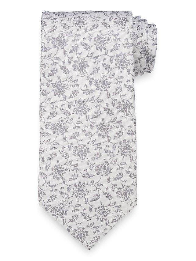 Floral Woven Silk Tie