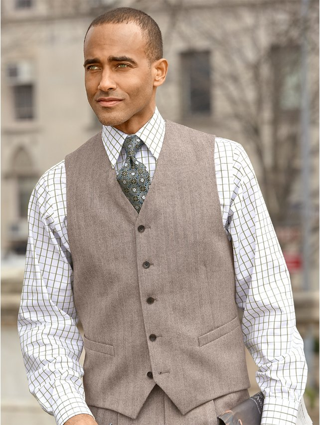 Five Button Wool Flannel Vest