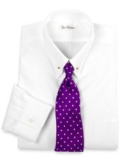 2-Ply Cotton Eyelet Collar Dress Shirt