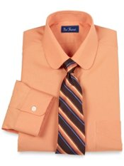 2-Ply Cotton Club Collar Dress Shirt